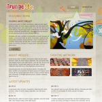 R 39-month Template website Grunge - template
